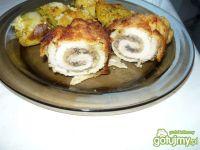 Roladki z kurczaka z pieczarkami i serem