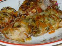 Ryba z sałatką z grilla