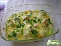 Ryba zapiekana z brokułami