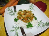Ryż z duszonymi warzywami, zdrowo i kolorowo