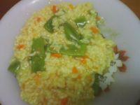 Ryż z dynią i zieloną fasolą
