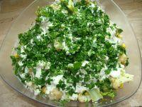 Sałatka kalafiorowo brokułowa