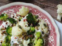 Sałatka kalafiorowo-brokułowa
