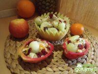 Sałatka owocowa z melonem i pitahaya