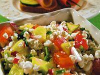 Sałatka z białego sera i warzyw
