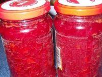 Sałatka z czerwonych buraków z papryką