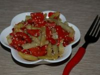 Sałatka z fasolki szparagowej z papryką