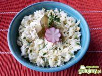 Sałatka z jajek i ryżu