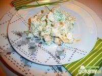 Sałatka z kalafiorem,młodymi ziemniakami