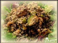 Sałatka z łososia z dzikim ryżem