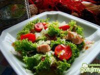 Sałatka  z pomidorków i łososia