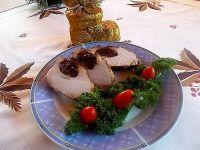 Schab nadziewany serem i żurawiną