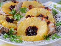 Schab w anansowych kwiatach