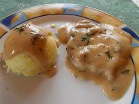 Schab w mleczno- grzybowym sosie