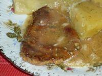 Schabik z sosie koperkowym