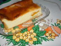 Serniczek z brzoskwiniami z kaszą manną