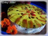 Sernik gruszkowo-brzoskwiniowy