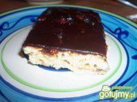 Sernik z polewa czekoladową