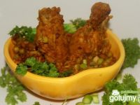 Skrzydełka z kurczaka w ryżu