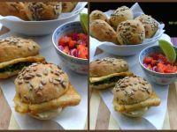Słoneczka z sojowym omletem i sałatką