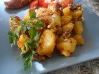 Smażone ziemniaczki z czosnkiem i peperoni