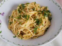 Spaghetti z dyniowym pesto