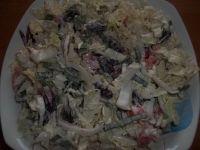 Surówka z pekińskiej z dodatkiem czerwonej fasoli