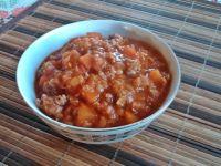 Sycące danie z soczewicą i mięsem