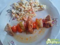 Szaszłyki z królika i warzyw