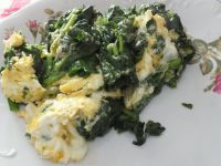 Szpinak z jajeczkiem