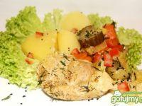 Szynka gotowana z warzywami