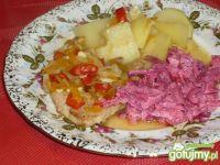 Szynka w sosie z warzywami
