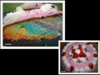 Tęczowy tort na urodziny córki
