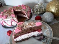 Torcik kakaowo- truskawkowy