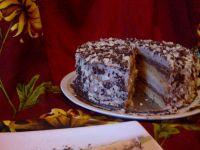 Tort czekoladowy  z nutą  advvokata i rumu