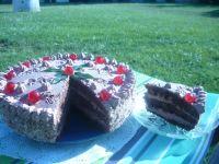Tort śmietanowo czekoladowy