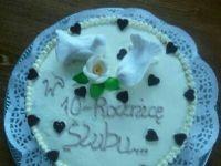 Tort śmietanowy z wiśniami