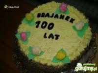 Tort urodzinowy - ciemny