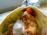 Tortilla i kurczak w pikantnym cieście