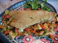 Tortilla razowa z kurczakiem