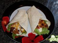 Tortilla z nadzieniem Chilli con Carne:)