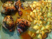 Udka masala z pieczonymi ziemniaczkami