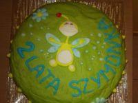 Urodzinowy tort z czekoladowym kremem maślanym
