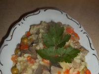 Wątróbka wieprzowa w ryżu