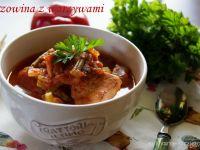 Wieprzowina z jesiennymi warzywami w adżice