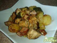 Wieprzowina z warzywami z worka