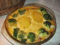 Zapiekanka warzywna z szynką i serem