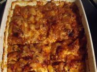 Zapiekanka z dyni,mięsa mielonego i sera