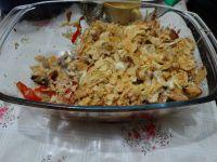 Zapiekanka z kurczakiem i chipsami