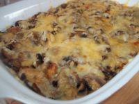 Zapiekanka ziemniaczana z mięsem i pieczarkami